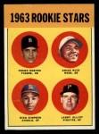 1963 Topps #407   Rookie Stars    -  Frank Kostro / Chico Ruiz / Larry Elliot / Dick Simpson Front Thumbnail