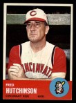 1963 Topps #422   Fred Hutchinson Front Thumbnail