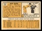 1963 Topps #404 B  Bob Oldis Back Thumbnail