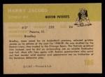 1961 Fleer #186   Harry Jacobs Back Thumbnail
