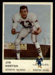 1961 Fleer #174   Jim Norton Front Thumbnail