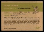 1961 Fleer #122  Dean Derby  Back Thumbnail