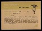 1961 Fleer #216   Bob Mischak Back Thumbnail