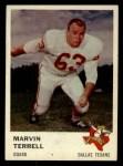 1961 Fleer #206   Marvin Terrell Front Thumbnail