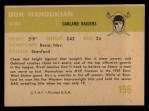 1961 Fleer #196   Don Manoukian Back Thumbnail