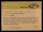 1961 Fleer #140  Dan McGrew  Back Thumbnail