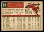 1959 Topps #83   Bobby Smith Back Thumbnail