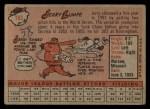 1958 Topps #193   Jerry Lumpe Back Thumbnail