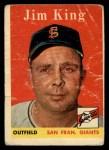 1958 Topps #332  Jim King  Front Thumbnail