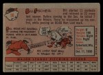 1958 Topps #56   Bill Fischer Back Thumbnail