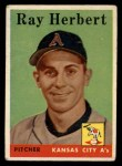 1958 Topps #379   Ray Herbert Front Thumbnail