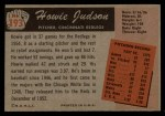1955 Bowman #193   Howie Judson Back Thumbnail