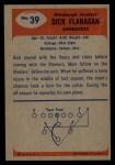 1955 Bowman #39   Dick Flanagan Back Thumbnail