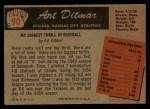 1955 Bowman #90  Art Ditmar  Back Thumbnail