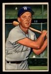 1952 Bowman #36   Cass Michaels Front Thumbnail