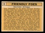 1963 Topps #68  Friendly Foes  -  Duke Snider / Gil Hodges Back Thumbnail