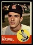 1963 Topps #49   Dal Maxvill Front Thumbnail