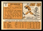 1963 Topps #53   Joe Moeller Back Thumbnail