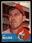 1963 Topps #512  Cal McLish  Front Thumbnail