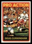 1972 Topps #345  Pro Action  -  Doug Cunningham Front Thumbnail