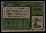 1974 Topps #194  Darrell Porter  Back Thumbnail