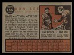 1962 Topps #166 A  Don Lee Back Thumbnail