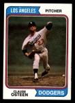 1974 Topps #42  Claude Osteen  Front Thumbnail