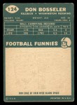 1960 Topps #124  Don Bosseler  Back Thumbnail