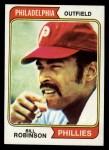 1974 Topps #174   Bill Robinson Front Thumbnail