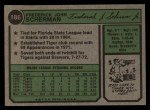 1974 Topps #186  Fred Scherman  Back Thumbnail