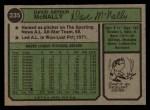 1974 Topps #235  Dave McNally  Back Thumbnail