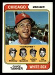 1974 Topps #221  White Sox Field Leaders    -  Chuck Tanner / Joe Lonnett / Jim Mahoney / Al Monchak / Johnny Sain Front Thumbnail