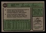 1974 Topps #257  Buddy Bell  Back Thumbnail