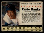 1961 Post Cereal #191 BOX  Ernie Banks  Front Thumbnail