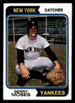 1974 Topps #19   Gerry Moses Front Thumbnail