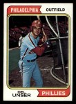 1974 Topps #69  Del Unser  Front Thumbnail