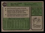 1974 Topps #170   Bill Melton Back Thumbnail