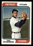 1974 Topps #186   Fred Scherman Front Thumbnail