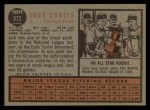 1962 Topps #372  Jack Curtis  Back Thumbnail
