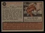 1962 Topps #100  Warren Spahn  Back Thumbnail