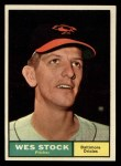 1961 Topps #26   Wes Stock Front Thumbnail