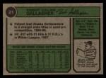 1974 Topps #21   Bob Gallagher Back Thumbnail