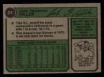 1974 Topps #24  John Hiller  Back Thumbnail