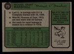 1974 Topps #73   Mike Marshall Back Thumbnail