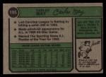 1974 Topps #195   Carlos May Back Thumbnail