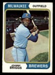 1974 Topps #218   Johnny Briggs Front Thumbnail