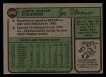 1974 Topps #240  Joe Coleman  Back Thumbnail