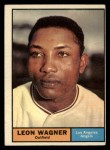 1961 Topps #547   Leon Wagner Front Thumbnail