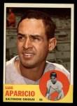1963 Topps #205   Luis Aparicio Front Thumbnail