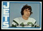 1972 Topps #100   Joe Namath Front Thumbnail